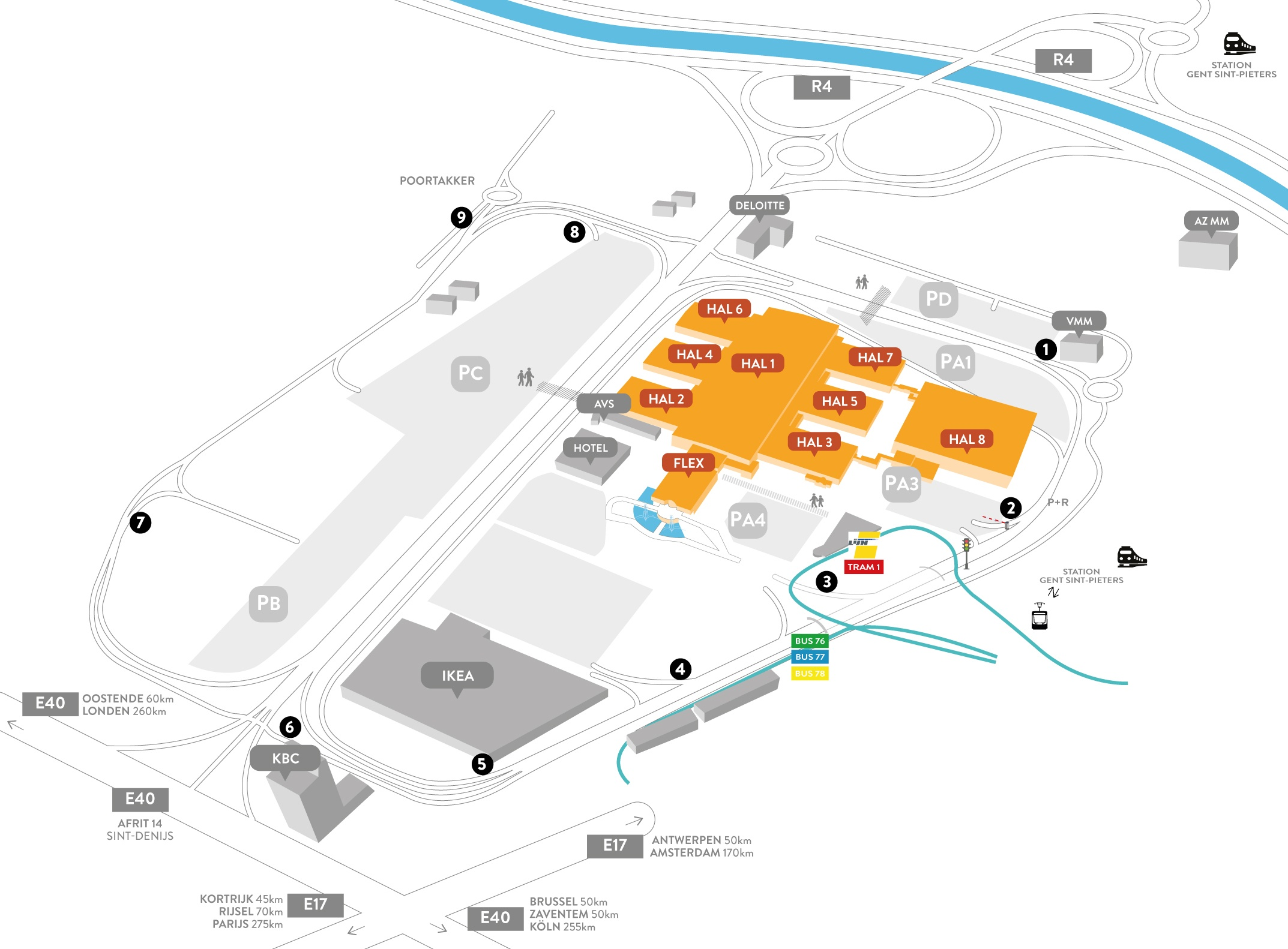Map of Flanders Expo